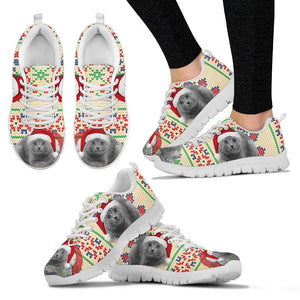 Chartreux Cat Christmas Running Shoes For Women- Free Shipping - Deruj.com