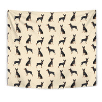 German Pinscher Dog Pattern Print Tapestry-Free Shipping - Deruj.com