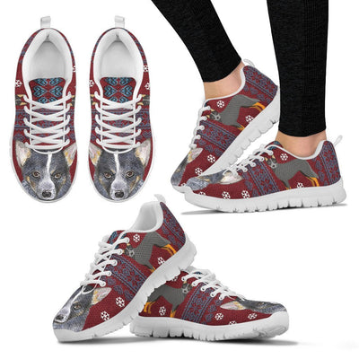 Australian Cattle Dog Print Christmas Running Shoes For Women-Free Shipping - Deruj.com
