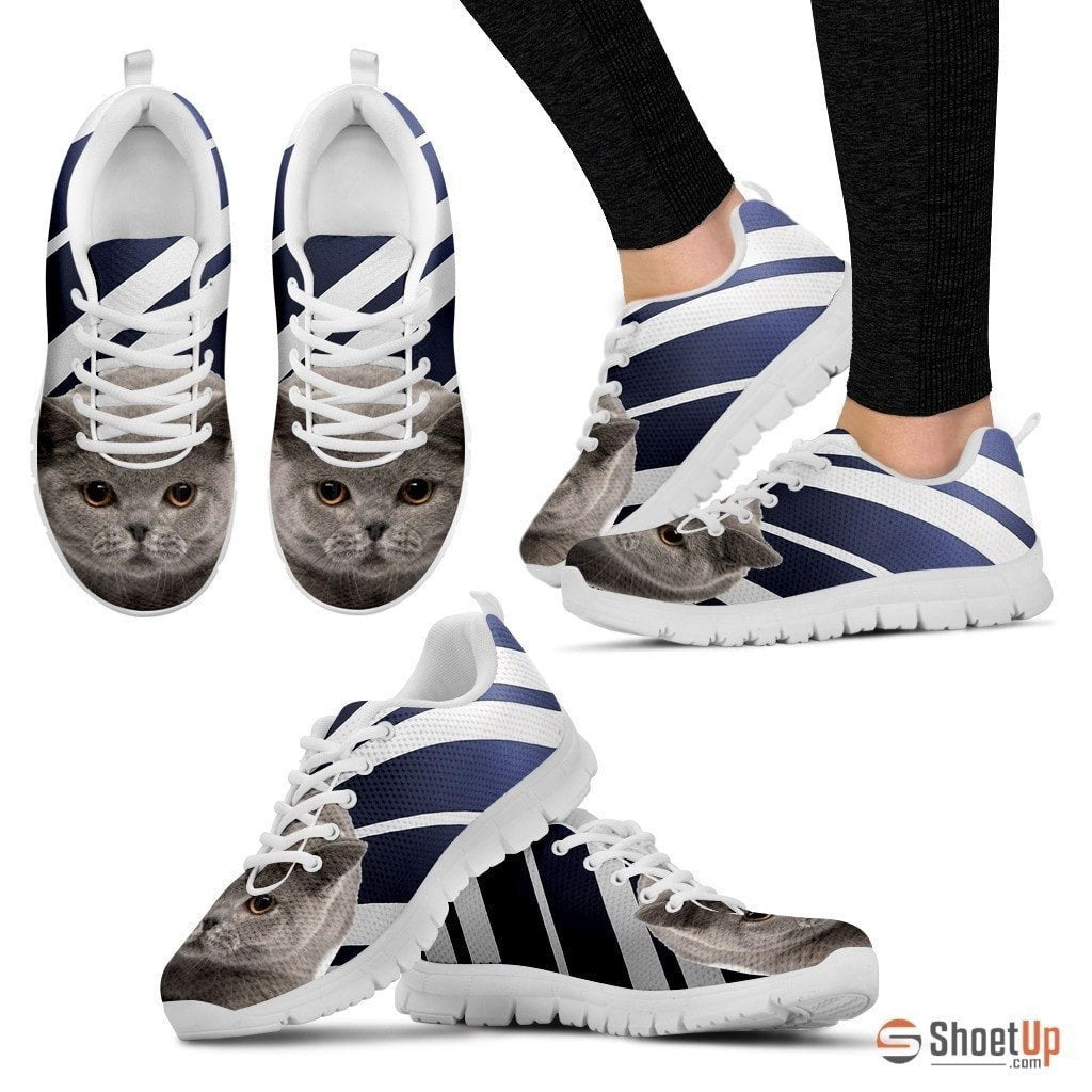British Shorthair Cat Print Running Shoes For Women-Free Shipping - Deruj.com