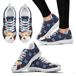 Pembroke Welsh Corgi Christmas Print Running Shoes For Women-Free Shipping - Deruj.com