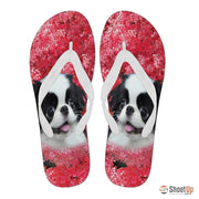 Japanese Chin Print Flip Flops For Women-Free Shipping - Deruj.com