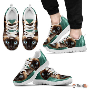 Siamese Cat Print Running Shoes For Men-Free Shipping - Deruj.com