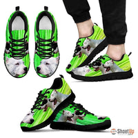 Dogo Argentino Print (Black/White) Running Shoes For Men-Free Shipping Limited Edition - Deruj.com