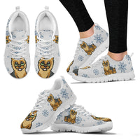 Norwich Terrier Christmas Print Running Shoes For Women- Free Shipping - Deruj.com