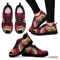 European Hamster Print (Black/White) Running Shoes For Women-Free Shipping - Deruj.com