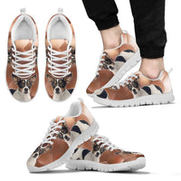 Teddy Roosevelt Terrier Print (White/Black) Running Shoes For Men-Express Shipping - Deruj.com