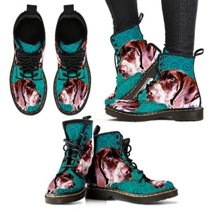 Pointer (German Shorthaired) Print Boots For Women-Express Shipping - Deruj.com