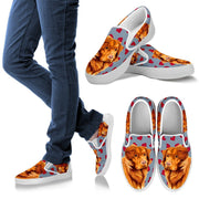 Valentine's Day Special-Nova Scotia Duck Tolling Retriever Print Slip Ons For Women- Free Shipping - Deruj.com