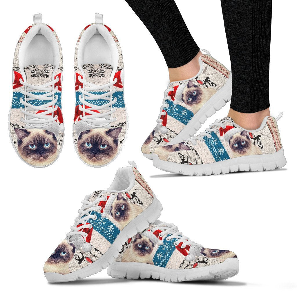 Birman Cat Christmas Running Shoes For Women- Free Shipping - Deruj.com