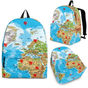 Limited Edition World Map Print Backpack-Free Shipping - Deruj.com