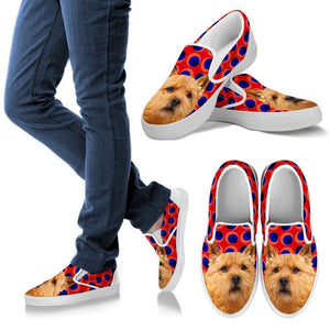 Norwich Terrier Print Slip Ons For Women-Express Shipping - Deruj.com