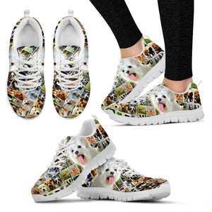 Lovely Maltese Print-Running Shoes For Women-Express Shipping - Deruj.com