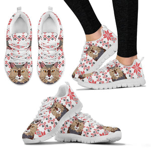 Maine coon Cat Christmas Print Running Shoes For Women-Free Shipping - Deruj.com