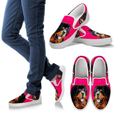 Valentine's Day Special-Tibetan Mastiff Dog Print Slip Ons For Women-Free Shipping - Deruj.com