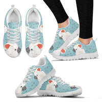 Salmon Crested Cockatoo Parrot Print Christmas Running Shoes For Women-Free Shipping - Deruj.com