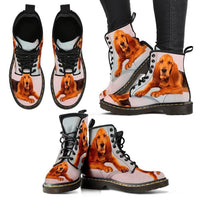Bloodhound Print Boots For Women-Express Shipping - Deruj.com