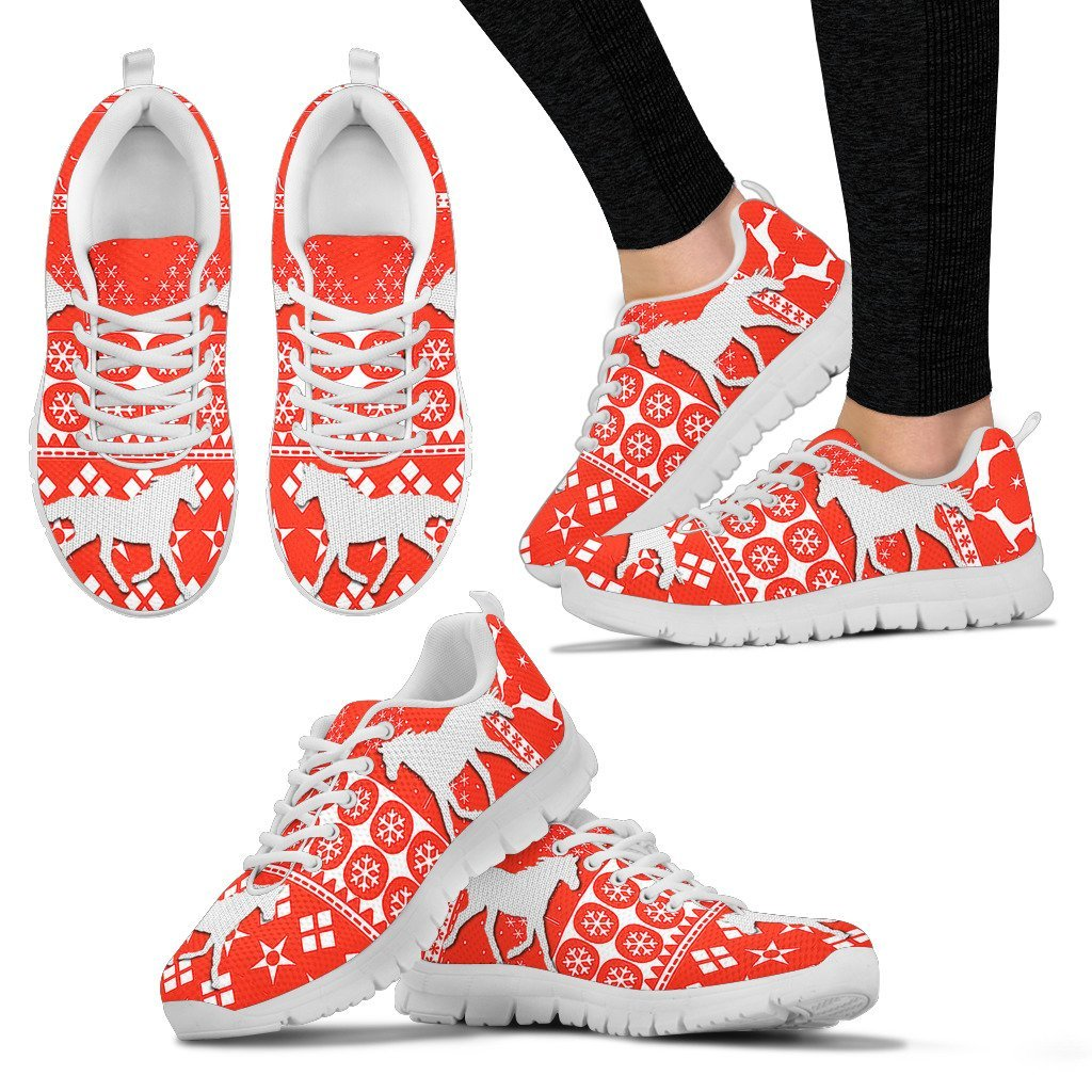 Quarab Horse Christmas Running Shoes For Women- Free Shipping - Deruj.com