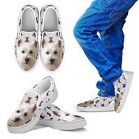 West Highland White Terrier Print Slip Ons For Kids- Express Shipping - Deruj.com