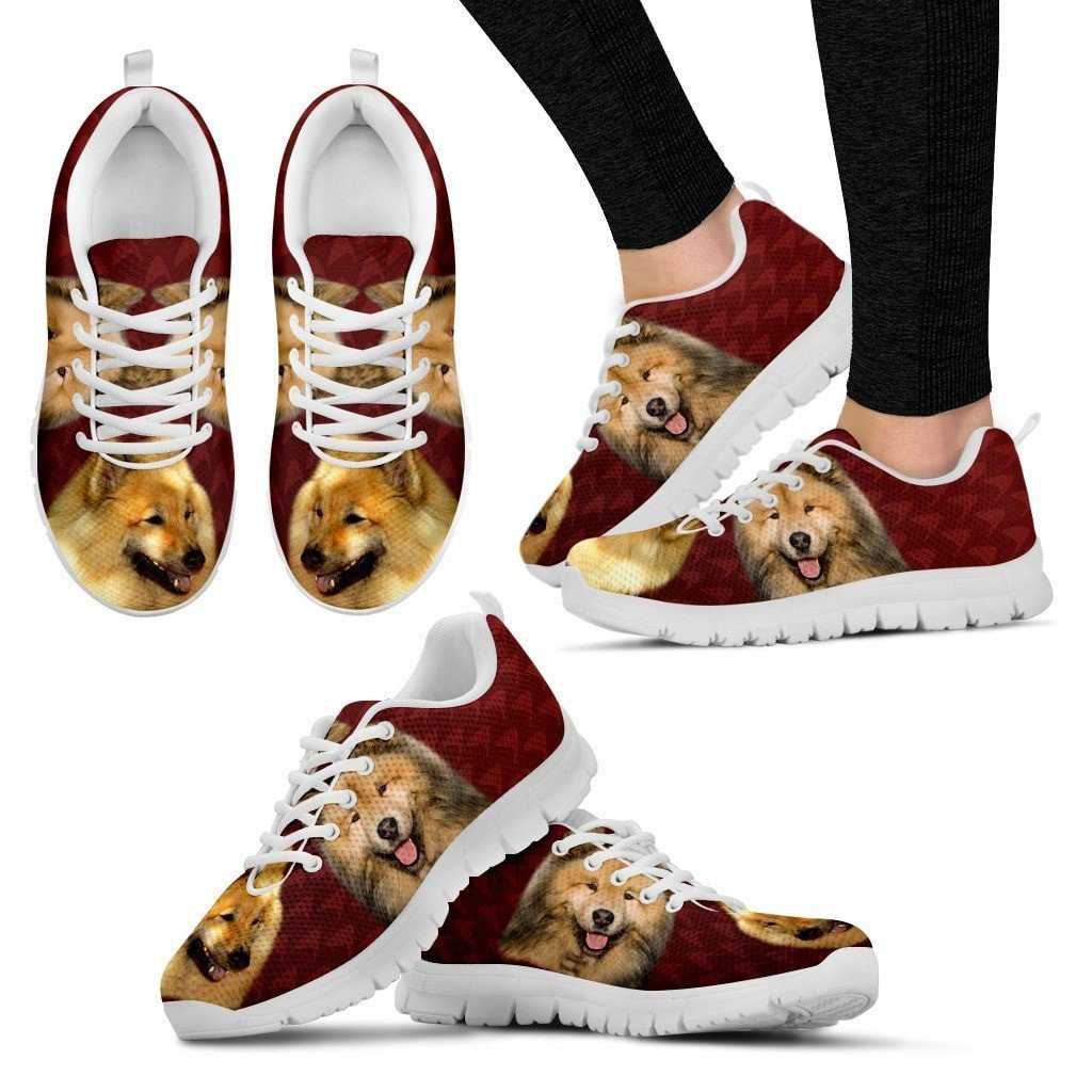 Eurasier Dog Print (White/Black) Running Shoes For Women-Express Shipping - Deruj.com