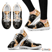 Portuguese Water Dog (White/Black) Running Shoes For Women-Free Shipping