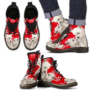 West Highland White Terrier Print Boots For Men-Limited Edition-Express Shipping - Deruj.com
