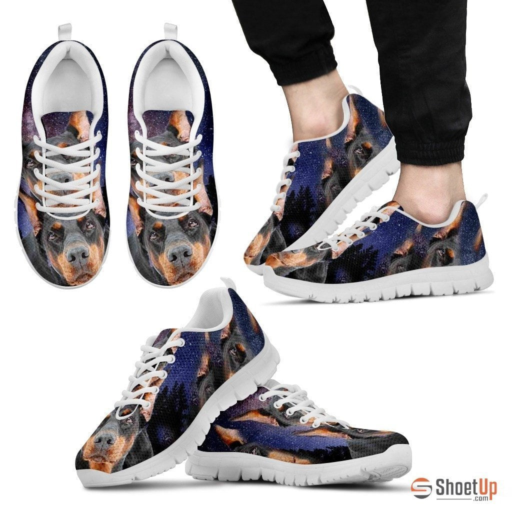 Doberman Print Running Shoe (Men And Women)- Free Shipping - Deruj.com