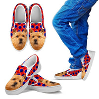 Norwich Terrier Print Slip Ons For Kids-Express Shipping - Deruj.com