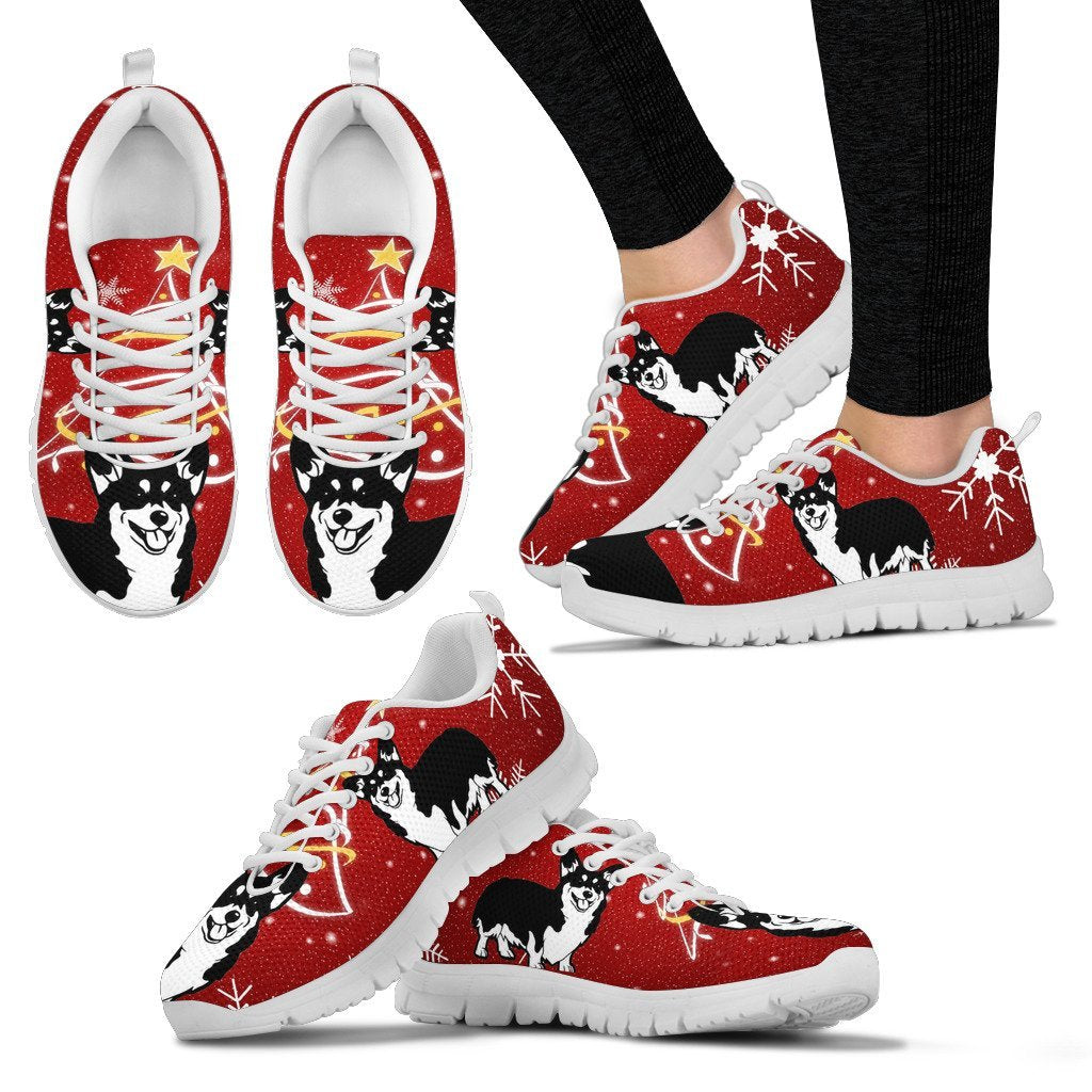 Cardigan Welsh Corgi Christmas Print Running Shoes For Women-Free Shipping - Deruj.com