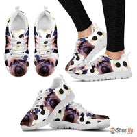 Customized(1914) Dog (White/Black) Running Shoes For Women-Free Shipping - Deruj.com