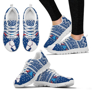 Azteca Horse Christmas Running Shoes For Women- Free Shipping - Deruj.com