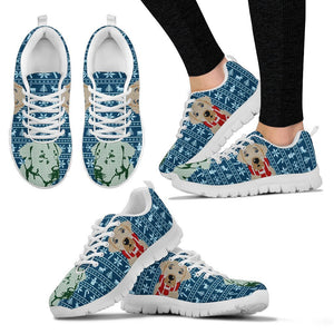 Labrador Retriever Print Christmas Running Shoes For Women-Free Shipping - Deruj.com