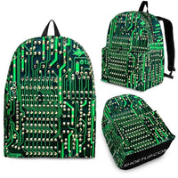 Circuit Board Pattern Backpack (Design 1) - Free Express Shipping - Deruj.com