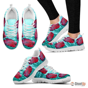 Flowerhorn Cichlid Fish Running Shoes For Women-Free Shipping - Deruj.com