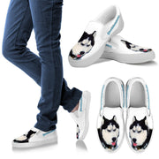 New Customized Siberian Husky Print Slip Ons For Women-Free Shipping- (Influencer) - Deruj.com