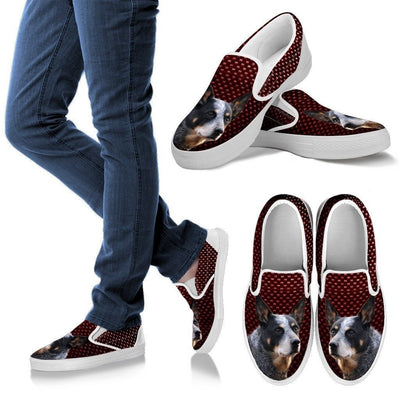 Australian Cattle Dog Print Slip Ons For Women-Express Shipping - Deruj.com