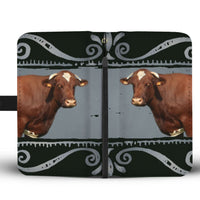 Maine Anjou Cattle (Cow) Print Wallet Case-Free Shipping - Deruj.com
