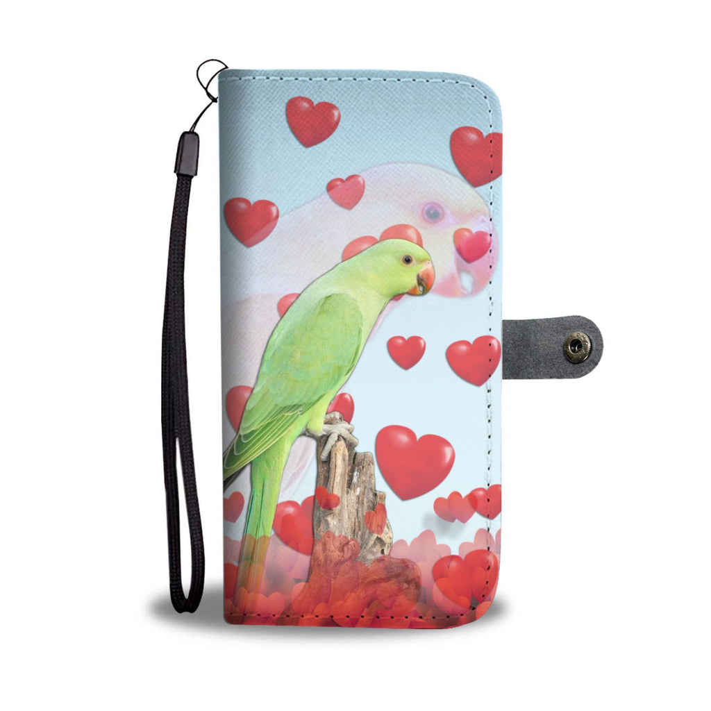 Ring Necked Parakeet Print Wallet Case-Free Shipping - Deruj.com