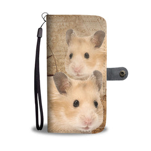 Amazing Golden Hamster Print Wallet Case-Free Shipping - Deruj.com