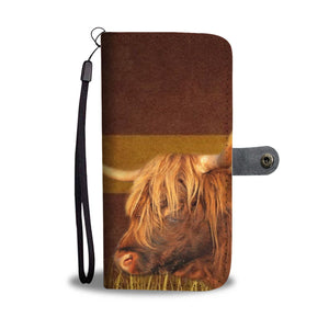 Highland Cattle (Cow) Print Wallet Case-Free Shipping - Deruj.com
