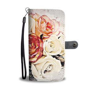 Rose Flowers Watercolor Art Print Wallet Case-Free Shipping - Deruj.com