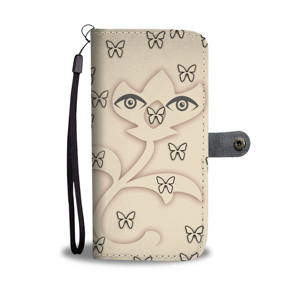 Butterfly Eyes Print Wallet Case-Free Shipping - Deruj.com