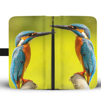Beautiful Kingfisher Bird Print Wallet Case-Free Shipping - Deruj.com