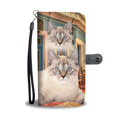 Lovely American Bobtail Cat Print Wallet Case-Free Shipping - Deruj.com