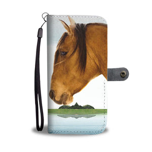 Kiger Mustang Horse Print Wallet Case-Free Shipping - Deruj.com