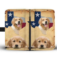 Cutest Golden Retriever Print Wallet Case-Free Shipping-TX State - Deruj.com