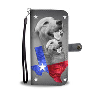 Amazing Golden Retriever Print Wallet Case- Free Shipping-TX State - Deruj.com