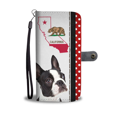Boston Terrier Print Wallet Case-Free Shipping-CA State - Deruj.com