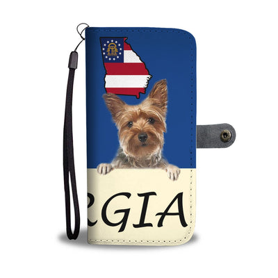 Yorkshire Terrier (Yorkie) Print Wallet Case-Free Shipping-GA State - Deruj.com