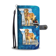 Golden Retriever Print Limited Edition Wallet Case-Free Shipping-MO State - Deruj.com